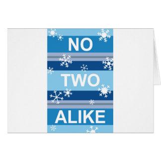 No Two Alike - Snowflake Stripe Poster Greeting Card