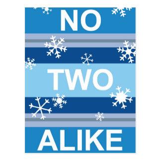 No Two Alike - Snowflake Stripe Poster Postcard