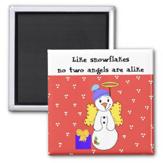 No Two Snowflakes Are Alike Square Magnet