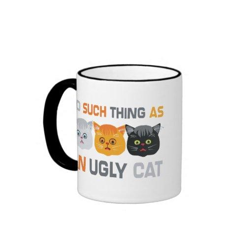 No Ugly Cats Coffee Mug