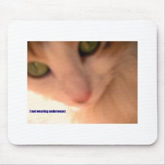 no underwear kitty mouse mat