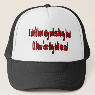 no voices in my head funny trucker hat