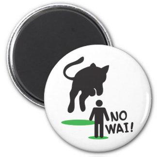 No Wai! CAT ATTACK! 6 Cm Round Magnet