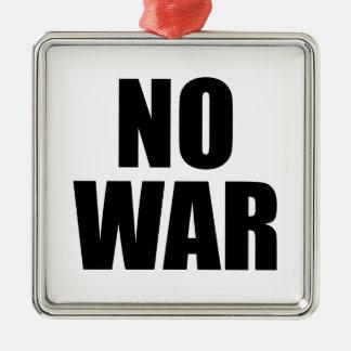 NO WAR Silver-Colored SQUARE DECORATION