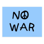 NO War T-shirts and Gifts Postcards