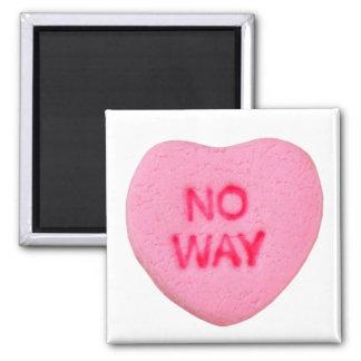No Way Anti-Valentine Square Magnet