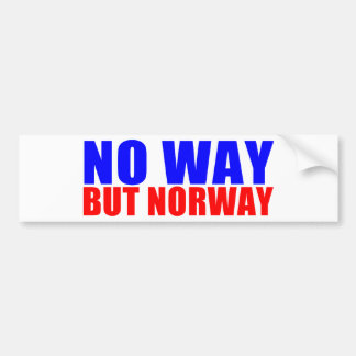 NO WAY BUT NORWAY BUMPER STICKER