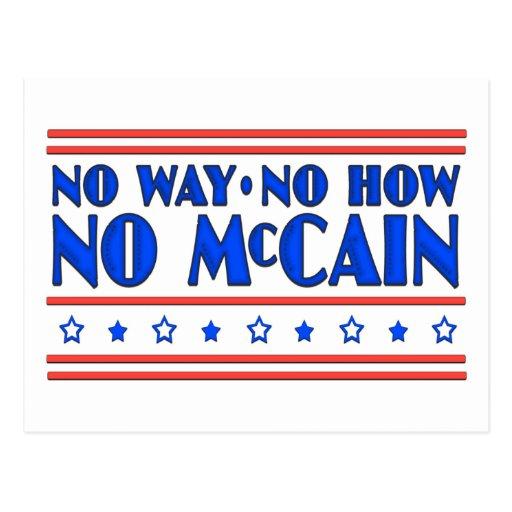 No Way No How No McCain Post Cards