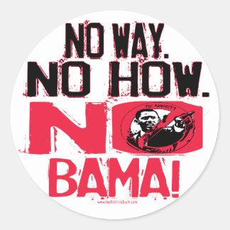 No Way No Obama in 2008 Round Stickers