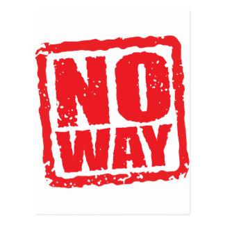 No way postcard