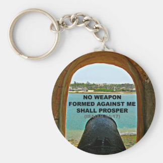 no weapon formed against me key ring
