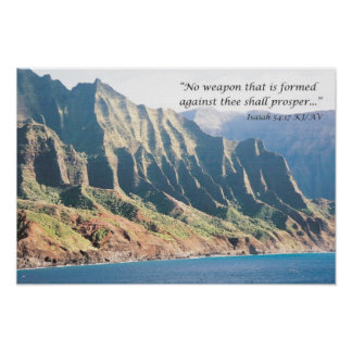 No Weapon Formed Against You Shall Prosper Poster