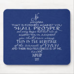 No Weapon Star of David Blue Mouse Pad