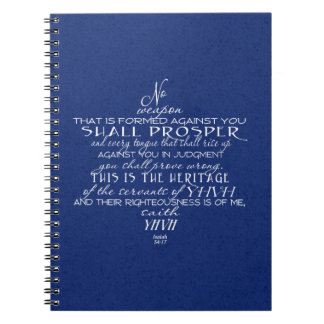 No Weapon Star of David Blue Note Books