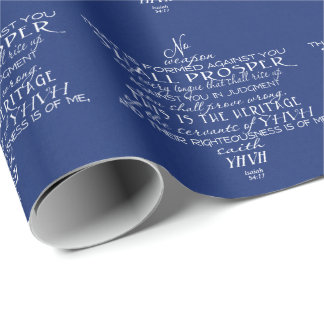 No Weapon Star of David Blue Wrapping Paper