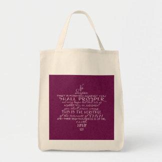 No Weapon Star of David Wine Tote Bag