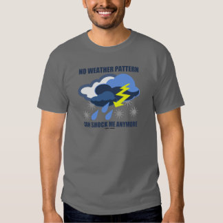 No Weather Pattern Can Shock Me Anymore Tee Shirt
