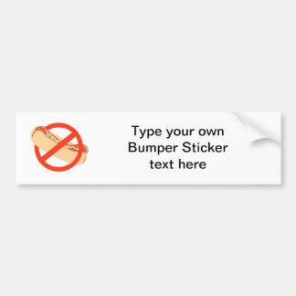 NO WEINERS CAR BUMPER STICKER