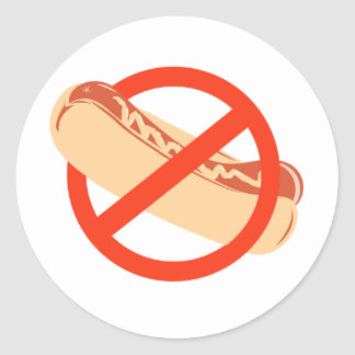 NO WEINERS ROUND STICKER