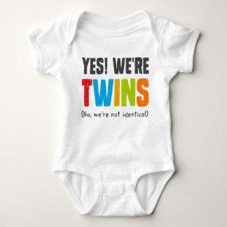 No, We're Not Identical Baby Bodysuit