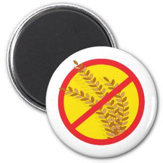No Wheat 6 Cm Round Magnet