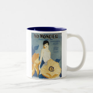 No Wonder That I Love You Vintage Songbook Cover Two-Tone Mug
