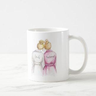 No Words Blonde Bride Blonde Bridesmaid Coffee Mug