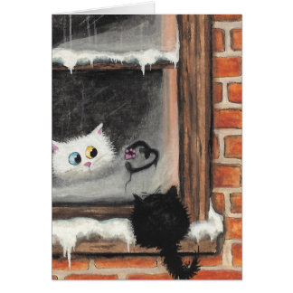 No Words Needed - Valentine Cats by BiHrLe Greeting Card