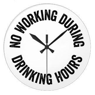 No working during drinking hours wallclock
