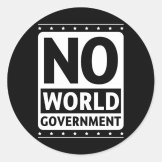 No World Government #1 Round Sticker