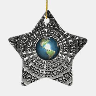 No World Government Ceramic Star Decoration