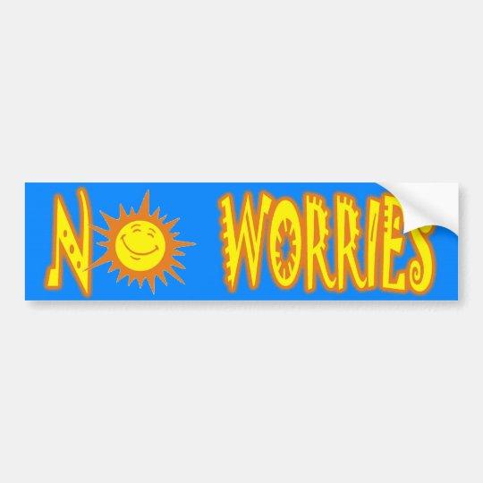 No Worries Bumper Sticker