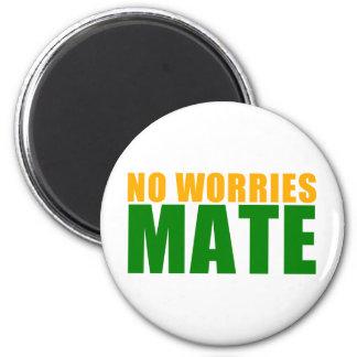 no worries mate 6 cm round magnet