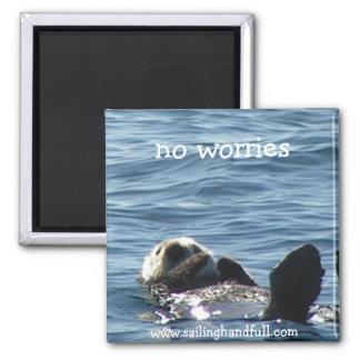 no worries sea otter magnet