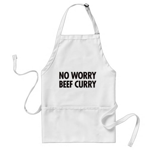 No Worry Beef Curry Apron