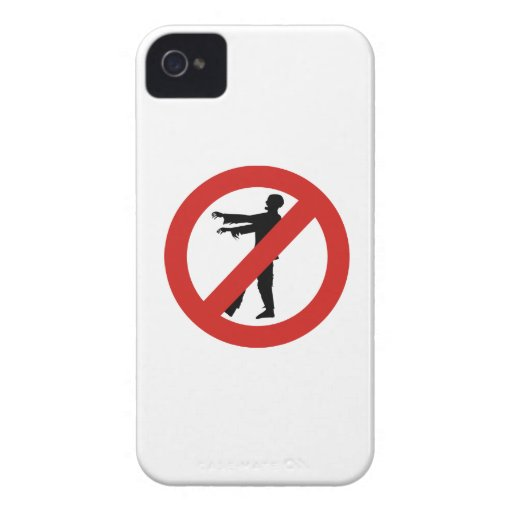 No Zombies iPhone 4 Cover