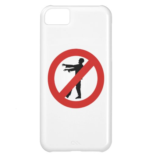 No Zombies Cover For iPhone 5C