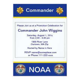 NOAA Lieutenant Commander Invitation