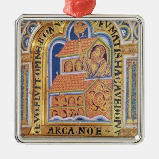 Noah and Ark, detail one of panels Verduner Christmas Ornament