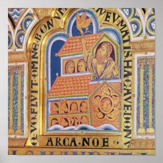 Noah and Ark, detail one of panels Verduner Poster