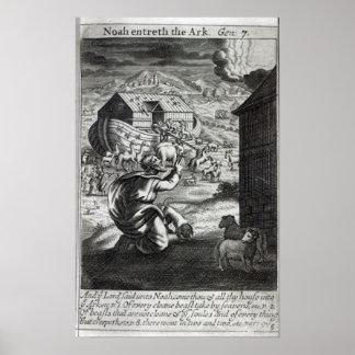 Noah entreth the Ark Poster