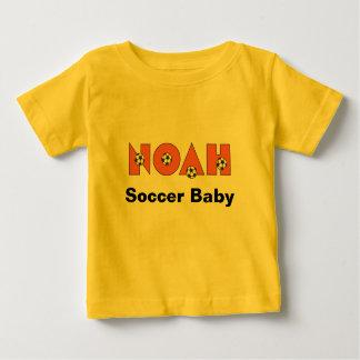Noah in Soccer Orange Baby T-Shirt