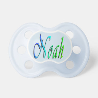Noah, Name, Logo, Babys 0-6 month Blue Pacifier