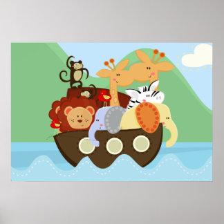 Noah s Ark Baby Nursery Poster