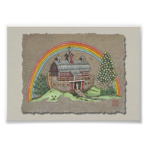 Noah's Ark Barn Photographic Print