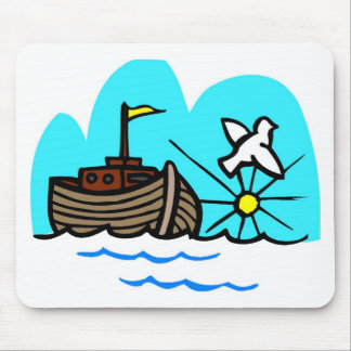 Noah s ark Christian artwork_1 Mousepad