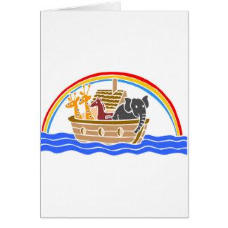 Noah s ark Christian artwork_4 Greeting Card