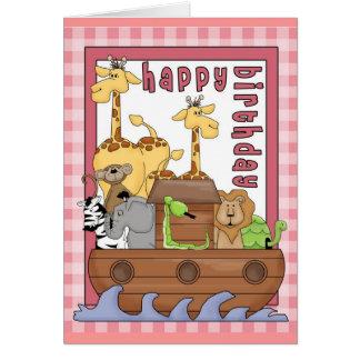 Noah s Ark Happy Birthday Greeting Card