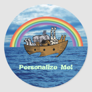 Noah s Ark Rainbow Sticker