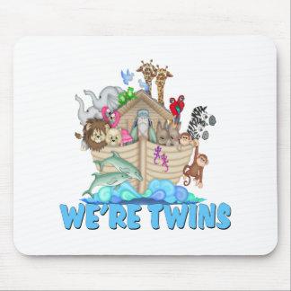 Noah s Ark We re Twins Mousepad